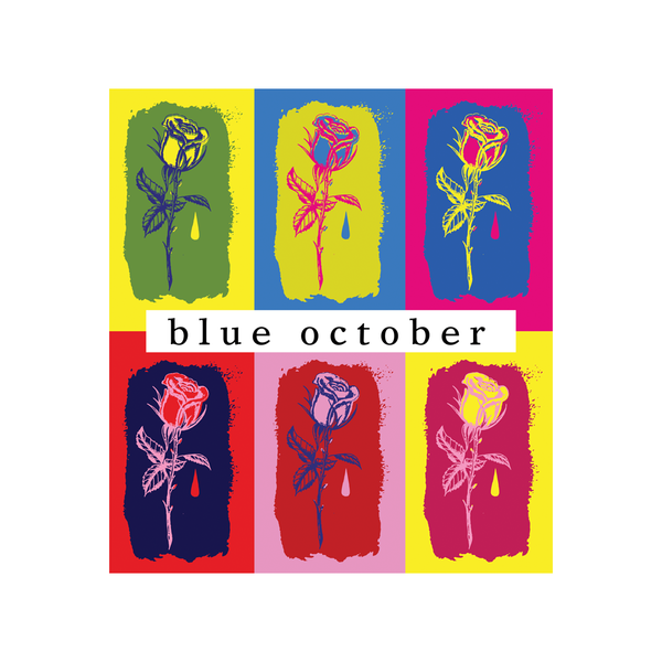 Blue October - I Hope You're Happy Colored Roses Sticker