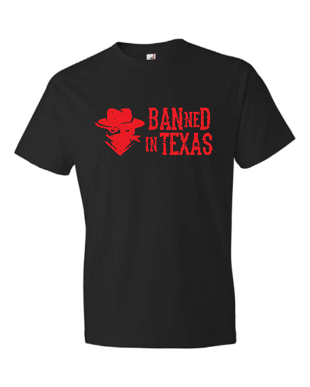BANned In TEXAS - Outlaw Logo Tee (Black)
