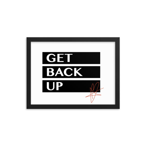 Justin Furstenfeld - Signature Series Get Back Up Poster