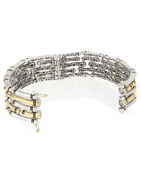 Canias Collection Five Row Hinged Bangle Bracelet