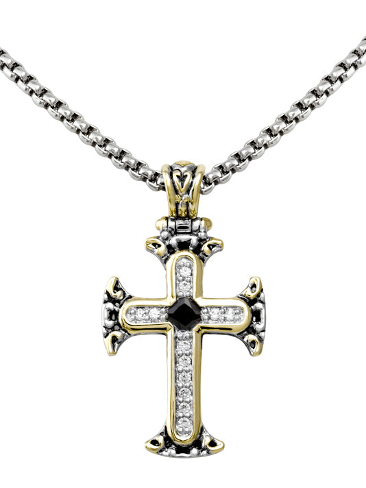 Celebration Collection Pavé & Black Cross with Chain