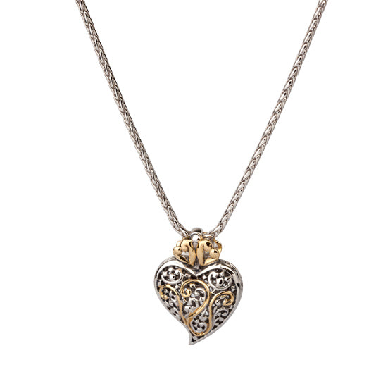 Viana Filigree Heart Pendant