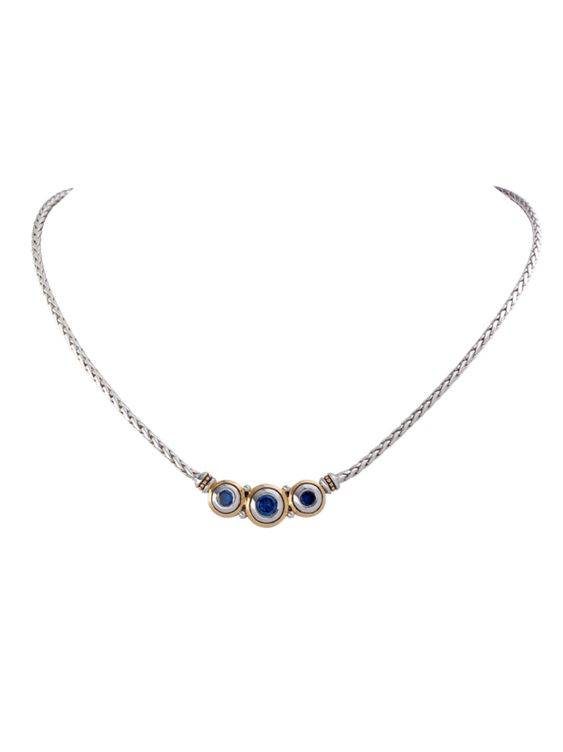 Beijos Collection CZ Three Stone Necklace