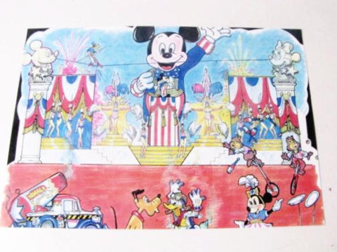 Disney's America Unbuilt Park 1993 Stage Show WDI Circulated Concept Art Printout