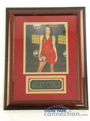 "MILEY CYRUS SIGNED Original Autograph 19""X15"" Framed Photo Photograph Display"