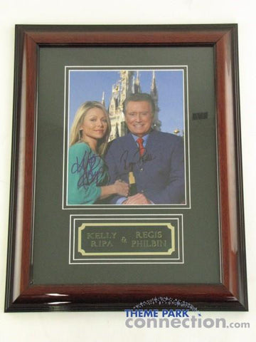 "REGIS PHILBIN KELLY RIPA SIGNED Original Autograph Framed Photo 19""x15"" Display"