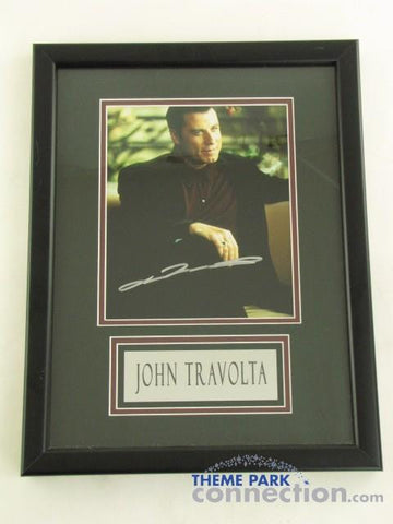 "JOHN TRAVOLTA SIGNED Original Autograph 18"" By 14"" Framed Photo Photograph Display"
