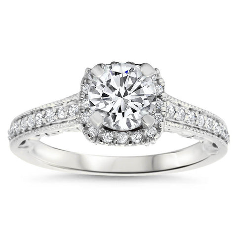 Forever One Moissanite Engagement Ring - Tianna - Moissanite Rings