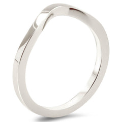 Plain Band Curved Wedding Band Shaped Band - Fourteen