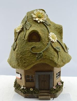 FD52  - Moss Solar Fairy House - * WINTER SPECIALS 50% OFF PRICE LISTED BELOW