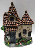 FD56 - Pine Cone Solar Fairy House with 2 Roof - *WINTER SPECIALS 50% OFF PRICE LISTED BELOW