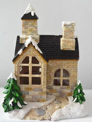 FD58 - Snowfall Solar Fairy House - WINTER SPECIALS 50% OFF PRICE LISTED BELOW