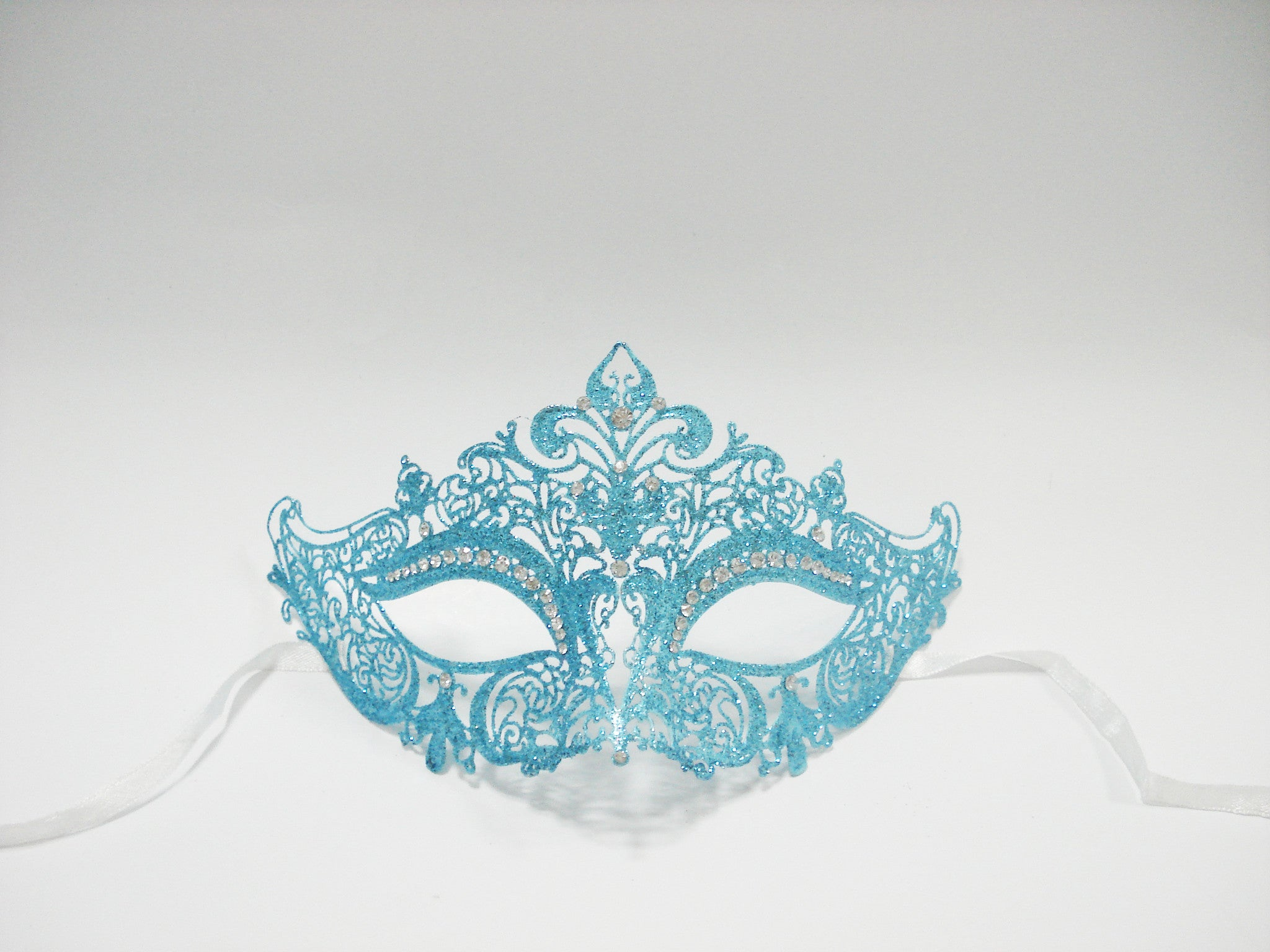 MK127 - Skyblue Glitter Mask -  CLEARANCE 50% OFF LISTED PRICE