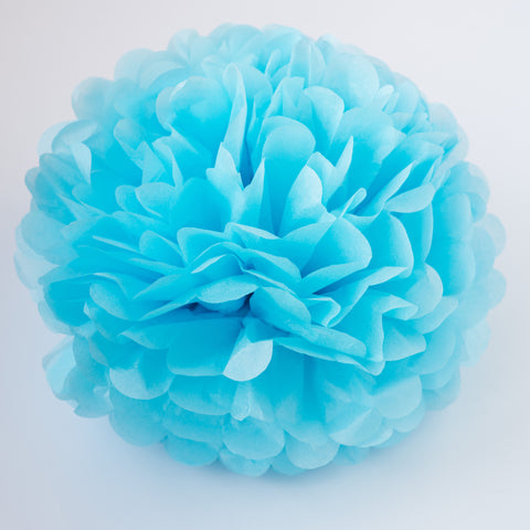 Large size baby blue tissue paper pom pom