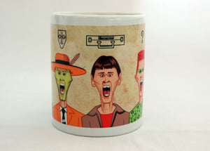 Coffee Mug with Jim Carrey's Humorous Avatars in Prasad Bhat's caricature artwork.