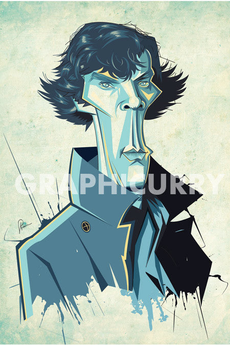 Sherlock Wall Art by Graphicurry