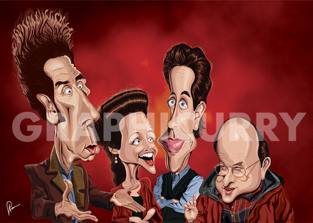 Seinfeld Tribute Wall Art by Graphicurry