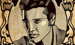 Elvis Stamp Wall Art by Graphicurry