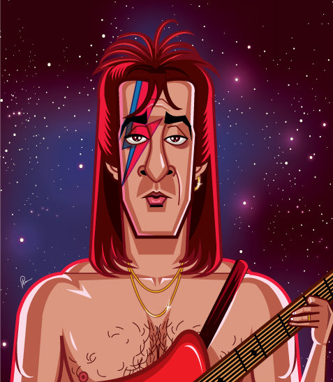 Sanjay Dutt's caricature art tribute in David Bowie Style by Prasad Bhat