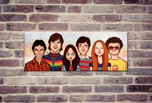 That 70s Show caricature art by Prasad Bhat