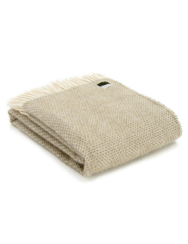 LAST ONE! Oatmeal Beehive Wool Blanket