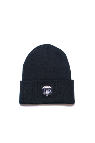 Black Umbrella Patch Beanie