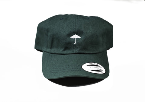 Hunter Green Black Umbrella Baseball Hat