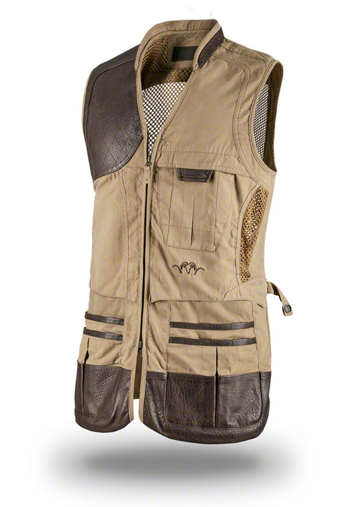 Blaser Parcours Tan Shooting Vest, www.clunycountrystore.co.uk