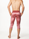 Men's Pink Satin Leggings