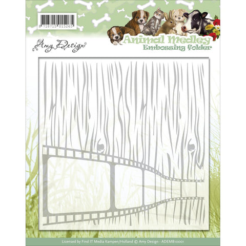 Find It Trading Amy Design Embossing Folder Animal Medley