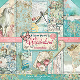 Stamperia Double-Sided Paper Pad Wonderland 12inX12in 10pk