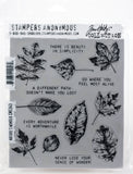 Tim Holtz Cling Stamps Nature's Wonder 7inX8.5in