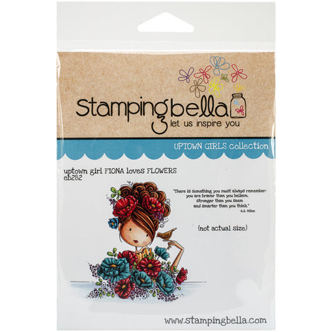 Stamping Bella Cling Rubber Stamp Uptown Girl Fiona Loves Flowers