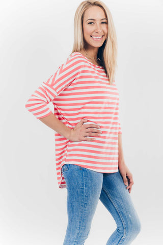 Coastal Breeze Dolman in Coral