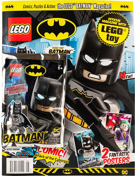 LEGO Batman magazine cover with minifigure
