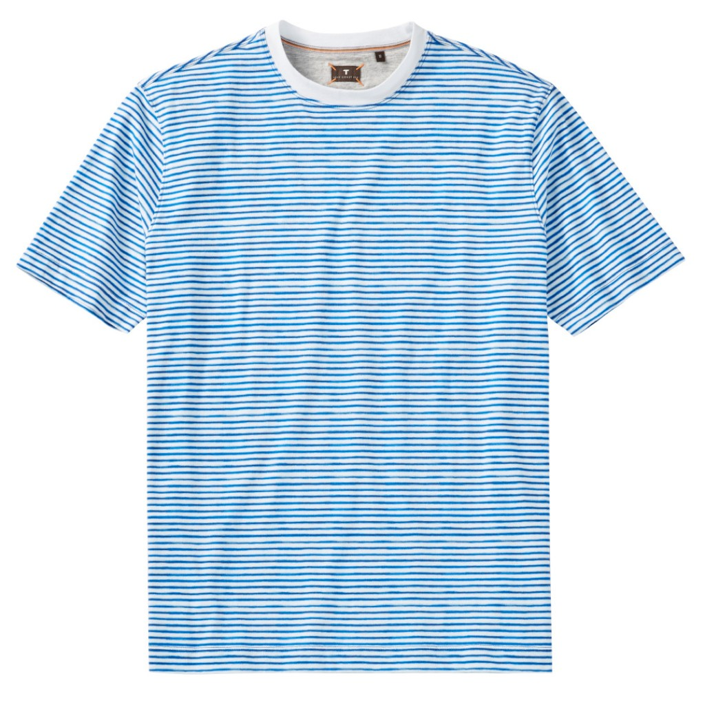 Left Coast Tee Men's Short Sleeve Crew Neck Stripe Pima Cotton T Shirt
