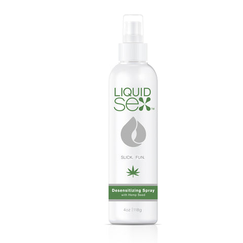 Liquid Sex  Desensitizing Spray with Hemp Seed, 4 fl. oz. (118 mL) Spray Bottle