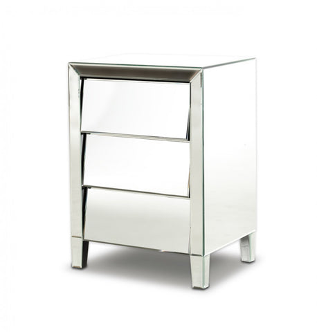Modrest Roanoke - Modern Mirrored Nightstand