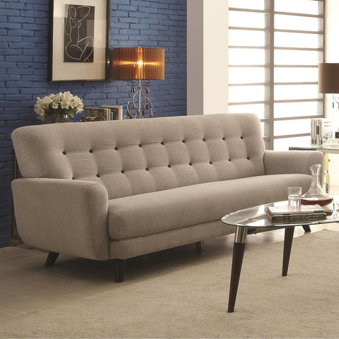 Maguire Contemporary Sofa with Contrast Buttons