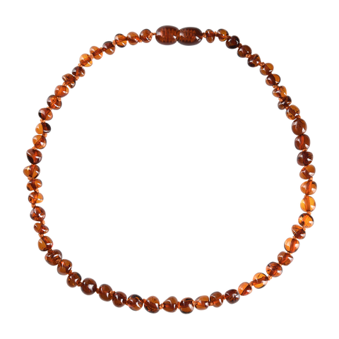 Baltic Amber Baby Necklace - Polished Cognac
