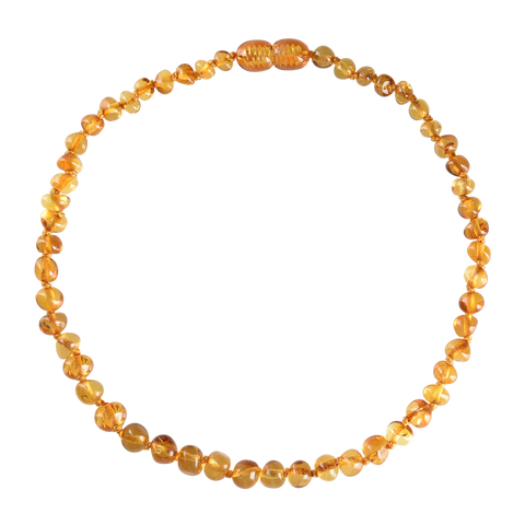 Baltic Amber Baby Necklace - Polished Honey