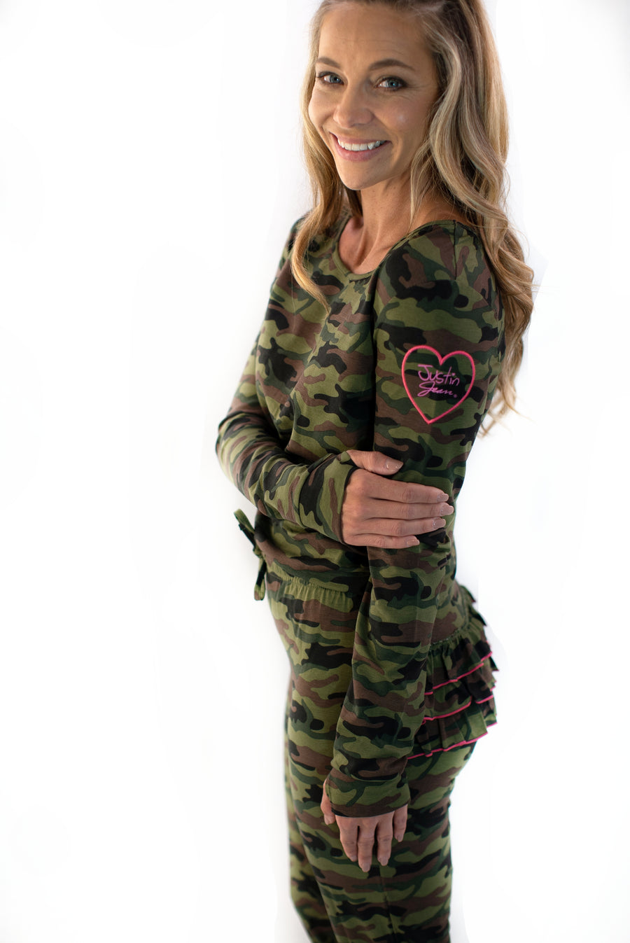 The Brooklyn Pajama Set in Courage (Camouflage) Print: Women's Sizes XS-XXL