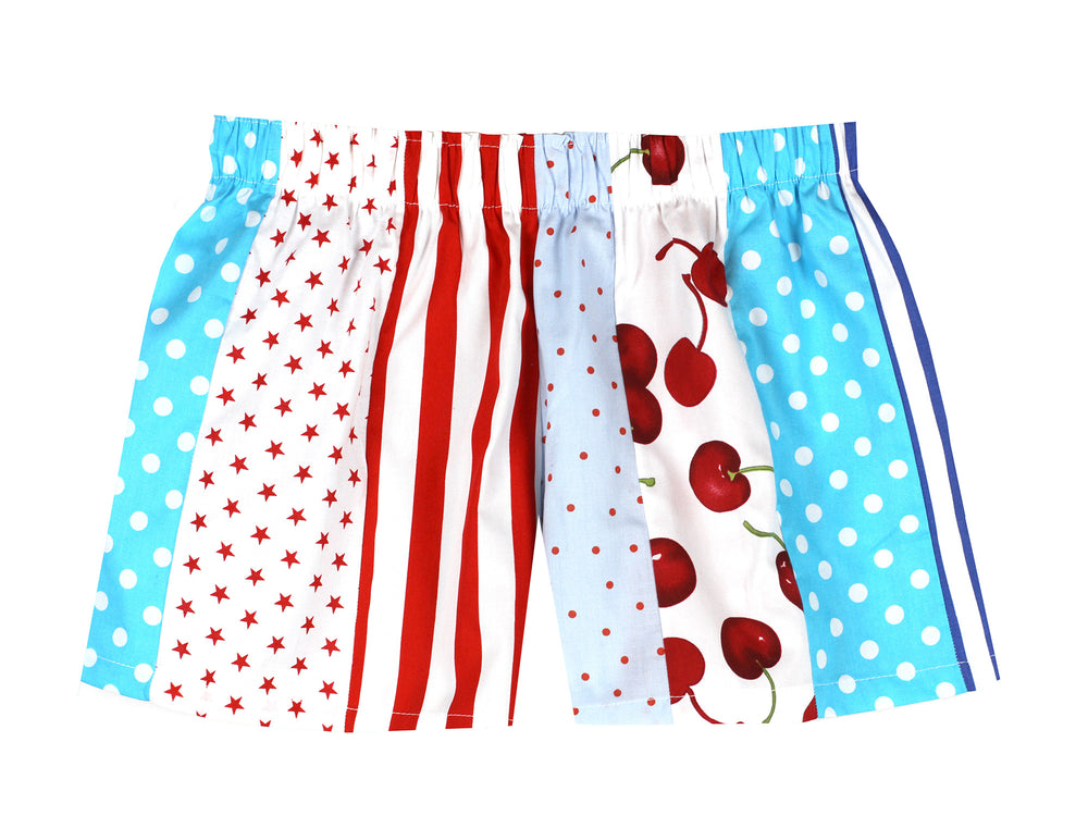 Red and Blue Pick and Mix Shorts