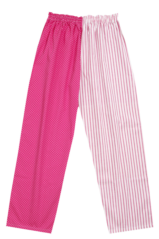 Pink Spot Stripe Pyjama Bottoms