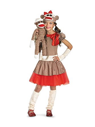 Girl's Sock Monkey Costume - Nevermore Costumes