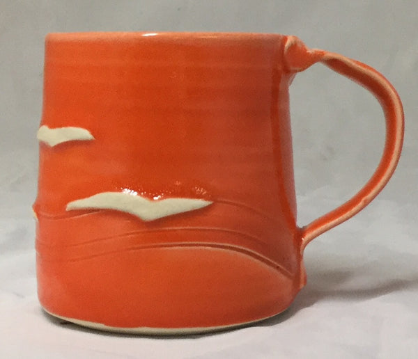 Seagull Mug - Orange - Poterie Ginette Arsenault - 5