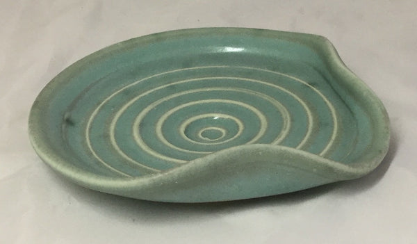 Spoon Rest - Aqua - Poterie Ginette Arsenault - 4