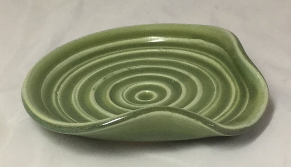 Spoon Rest - Green - Poterie Ginette Arsenault - 7