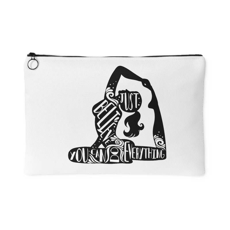 Lady Silhouette 1 Accessory Pouch (White) - 2 sizes