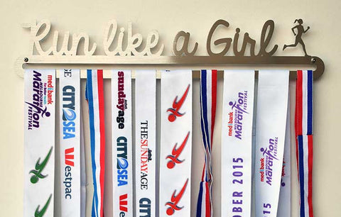 Running Race Medal Display Hanger - Run Like a Girl™